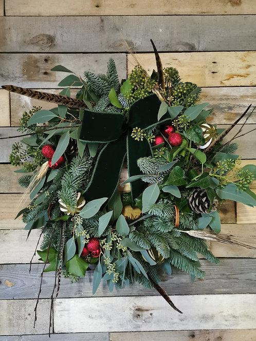 Traditional Woodland Christmas Wreath