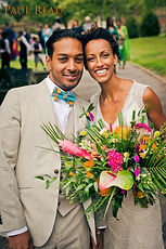 tropical wedding at burloes hall hertfordshire