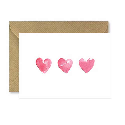 Three Hearts Card