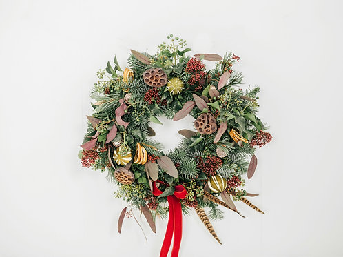 """Tis The Season"" Christmas Wreath"