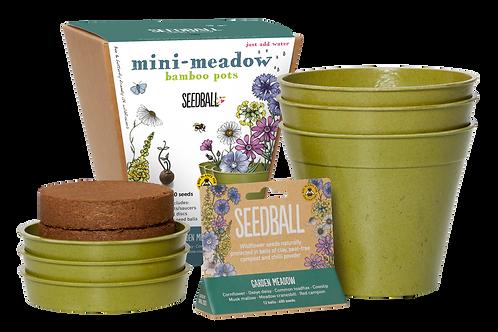 Mini Meadow Bamboo Pots