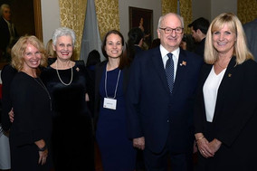 Queen Elizabeth Scholar Justine Dol Presents at Government House