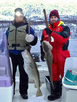 Cod fishing at winter