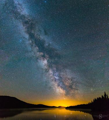 Voie Lactée, réserve faunique des Laurentides / Milky Way in Laurentides Wildlife Reserve, Canada