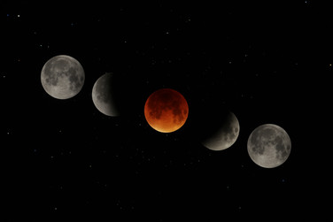 Éclipse lunaire 27/09/2015 / Lunar eclipse on 09/27/2015