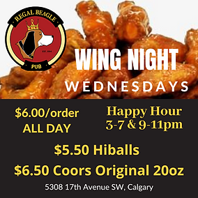 WING NIGHT CALGARY COORSORIGINAL