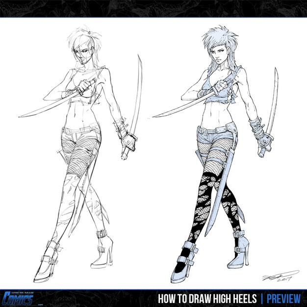 how to draw high heels preview 2