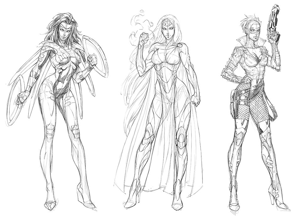 Superheroines Pencils.jpg