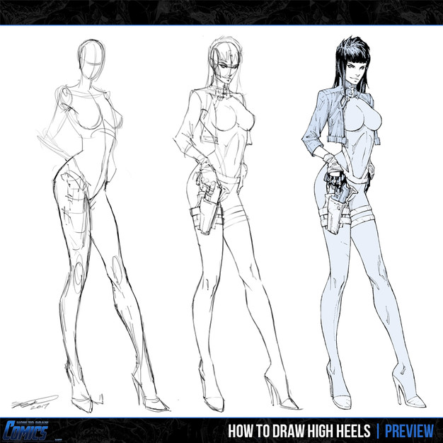 How to Draw High Heels  PREVIEW 3  How to Draw Comics  NET