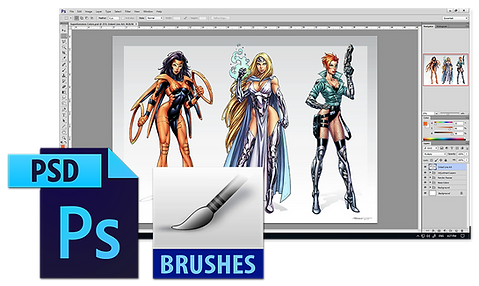 Superheroines PSD and Brushes.png