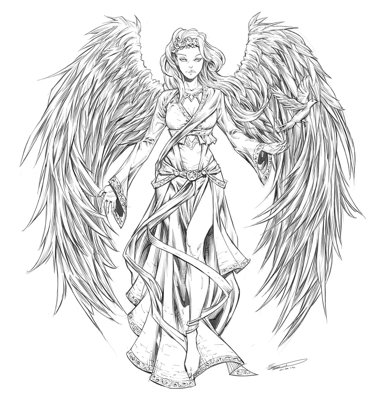 angel sketch how to draw comics net