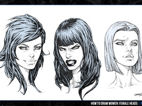 Female Head Variations (How To Draw Women: Female Heads PREVIEW)