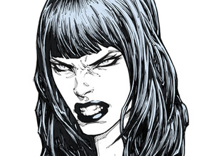 Angry Head Variation (How To Draw Women: Female Heads PREVIEW)