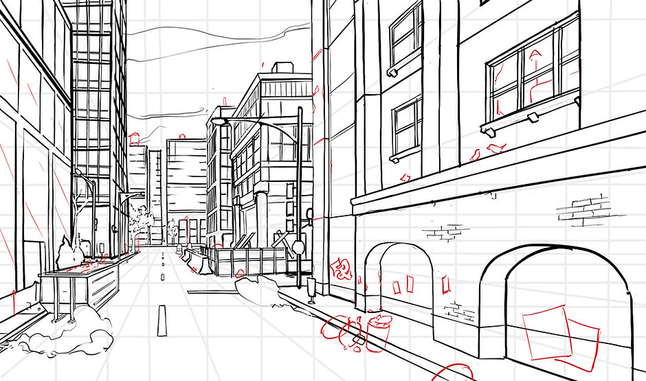 How To Draw Comics - 1 Point Perspective