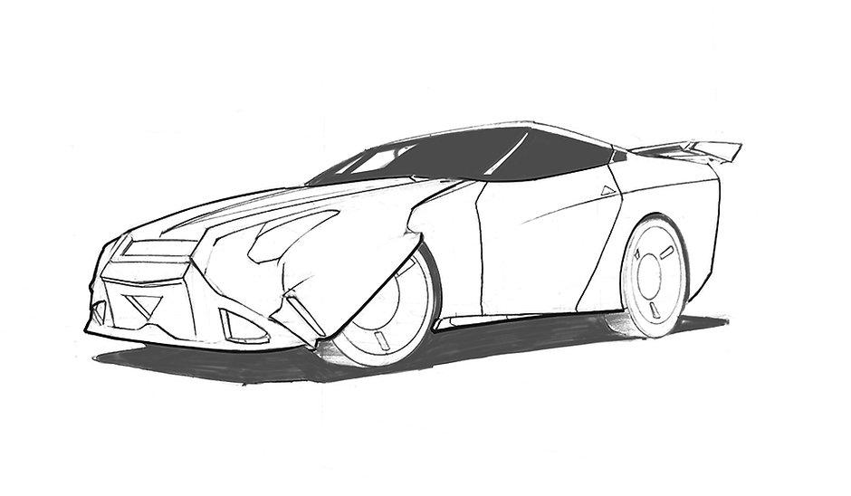 Sci-Fi Sports Car