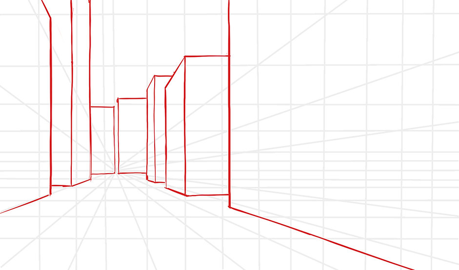 How To Draw A Scene In One Point Perspective