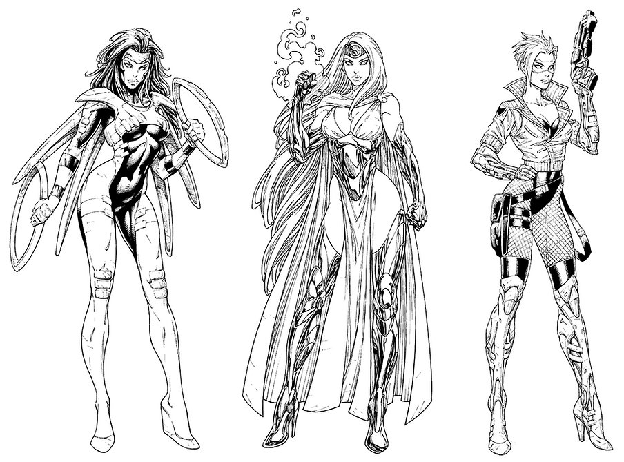 Superheroines Inks.jpg