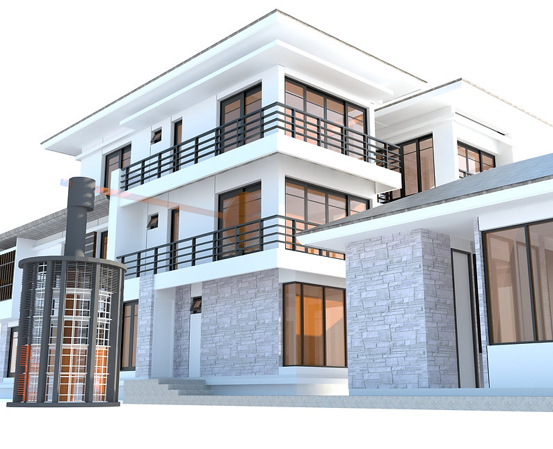 Future Residential House With Huge Outer