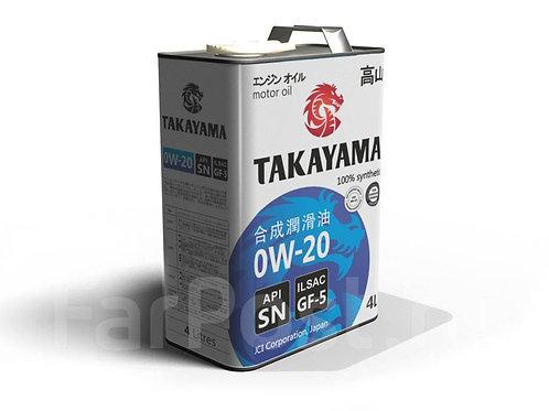 Моторное масло TAKAYAMA SAE 0W-20 ILSAC GF-5, API SN 1л