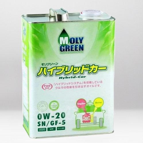 Моторное масло MOLYGREEN HYBRID SN/GF-5 0W20 4л