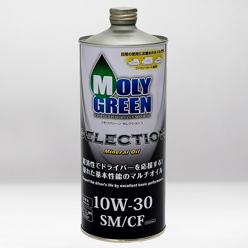 Моторное масло MOLYGREEN SELECTION  SM/CF 10W30 1л