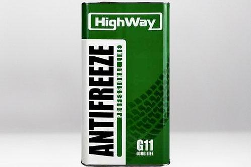 Антифриз HighWay ANTIFREEZE-40 LONG LIFE G11 зеленый 4L