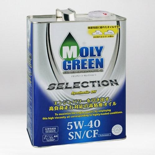 Моторное масло MOLYGREEN SELECTION  SN/CF 5W40 4л