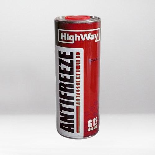 Антифриз HighWay ANTIFREEZE-40 LONG LIFE G12+ красный 1кг