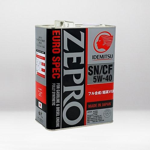 Моторное масло IDEMITSU ZEPRO EURO SPEC SN/CF 5W-40 4 л.