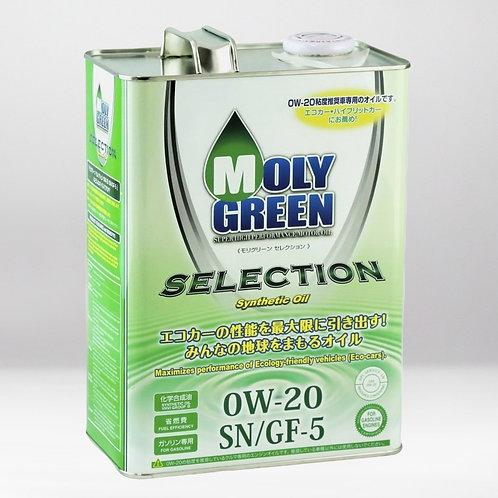 Моторное масло MOLYGREEN SELECTION SN/GF-5 0W20 4л