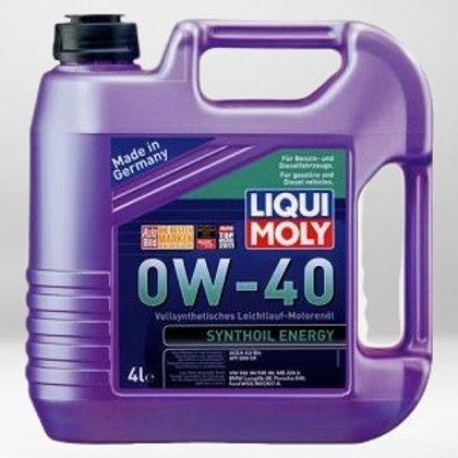 Моторное масло LIQUI MOLY Synthoil Energy SAE 0W-40 Cинтетическое 4л. API SM/CF,