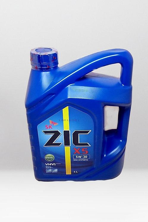 Моторное масло ZIC X5 SAE 5W30 4л SN,GF-5 GM dexos1