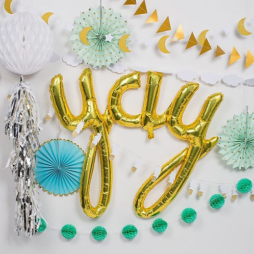 Mint and Gold Party Decor Pack