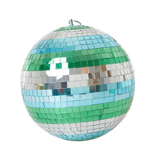 Aqua stripe disco ball