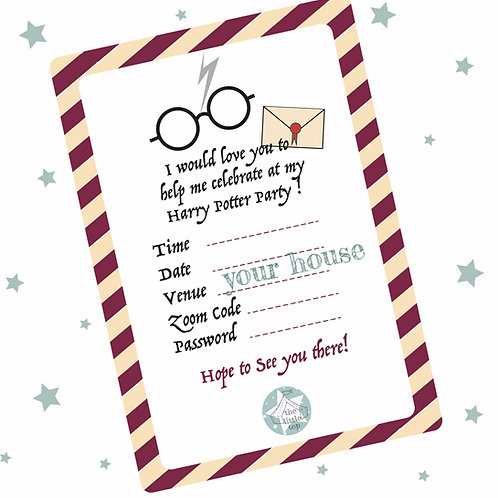 Harry Potter Party Pack (downloadable)