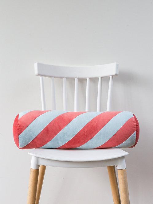 Candy Swirl Bolster - mint/apricot