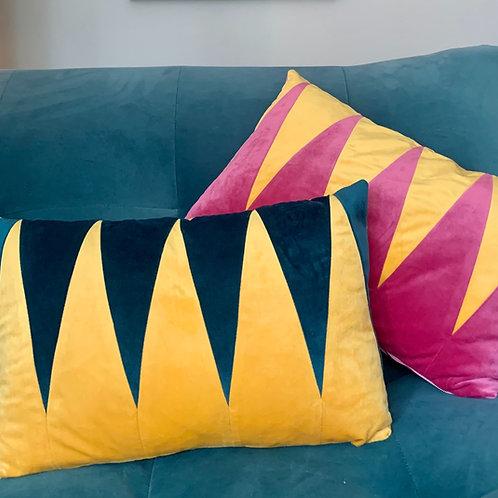 Backgammon velvet cushion