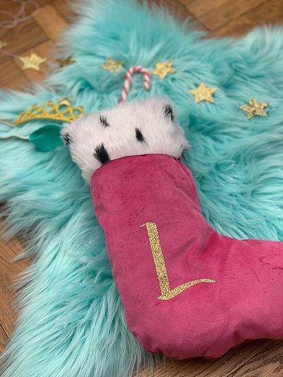 Personalised velvet stocking