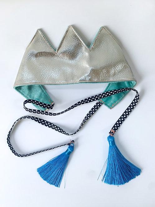 Silver tassel Crown