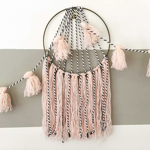 Tassel dreamcatcher wall hanging