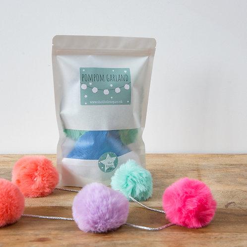Fluffy Pompom Garland Kit