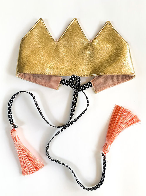 Gold Tassel Crown