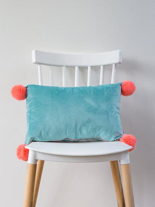Velvet PomPom cushion