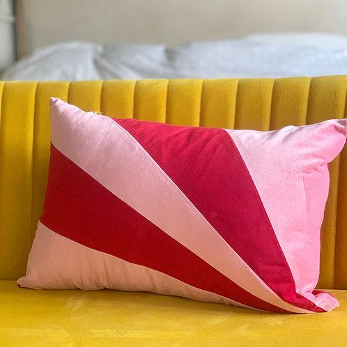 Sunburst velvet cushion
