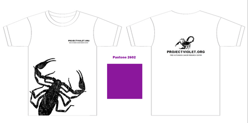 T-shirt design for Project Violet for South by Southwest
