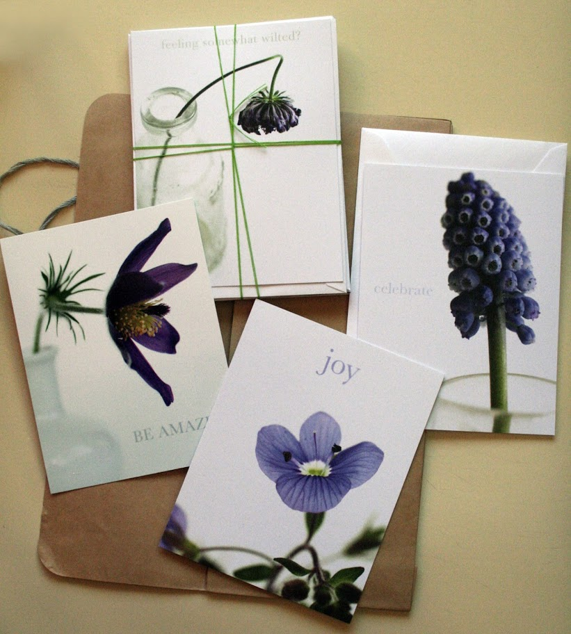 Personal project - Purple flower cards