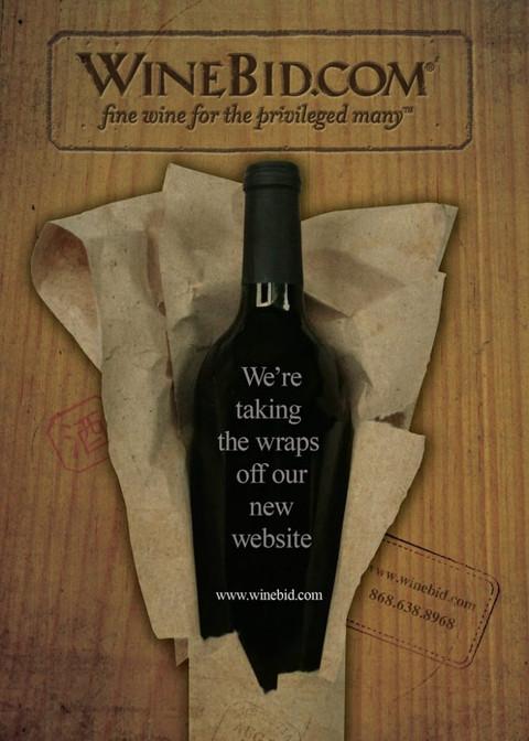 Winebid.com new website unvealing ad