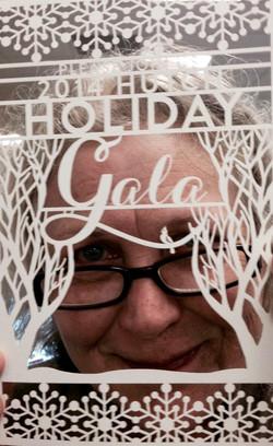 2014 Hutch Holiday Gala  laser-cut invitation
