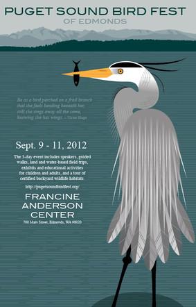 Puget Sound Bird Fest poster entry