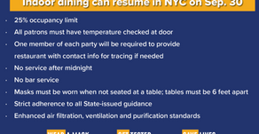 Cuomo: Indoor dining is back at 25%